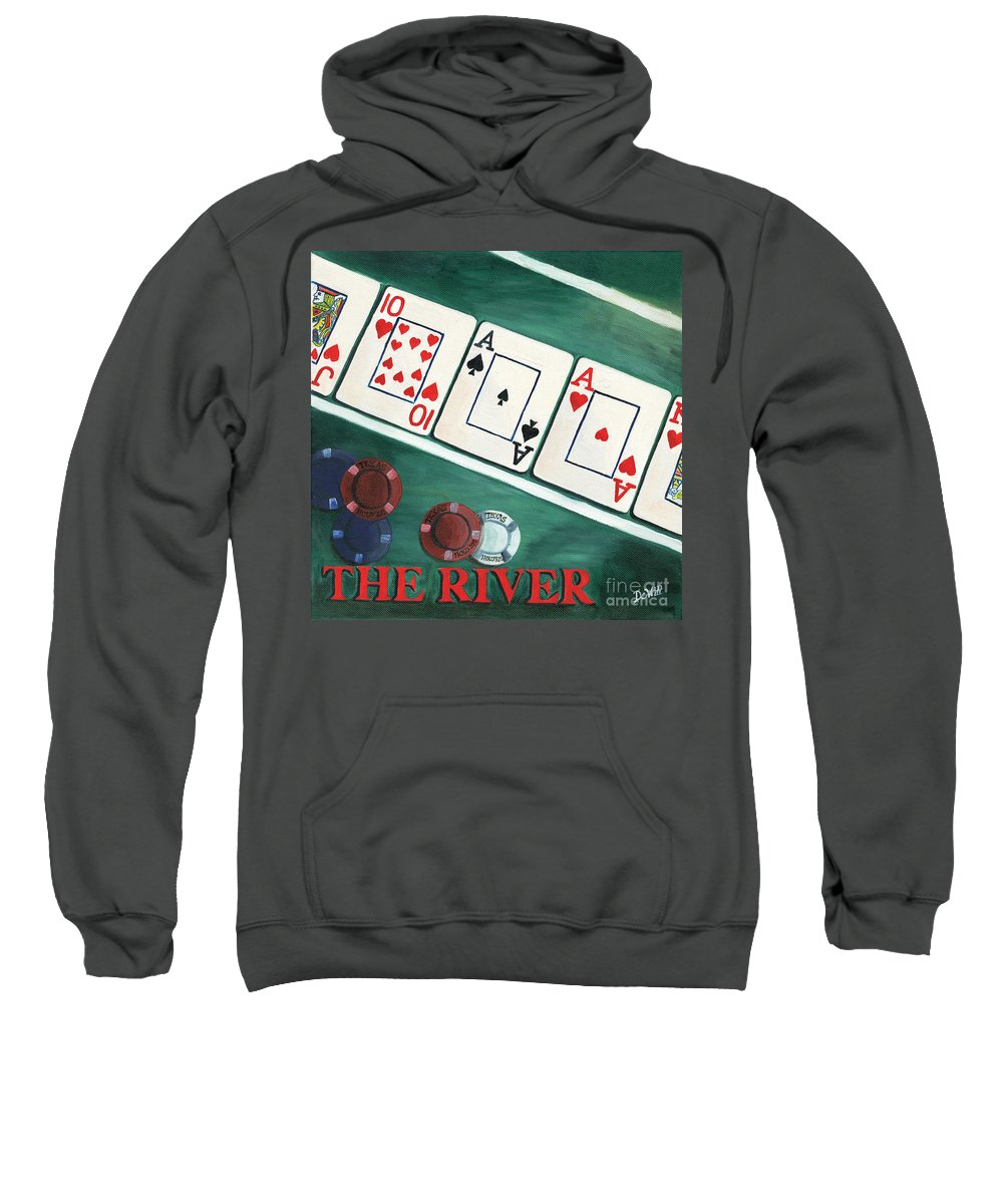 The River Sweatshirt featuring the painting The River by Debbie DeWitt