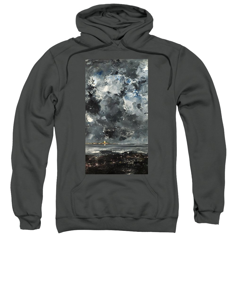 Painting Sweatshirt featuring the painting The Town by Mountain Dreams