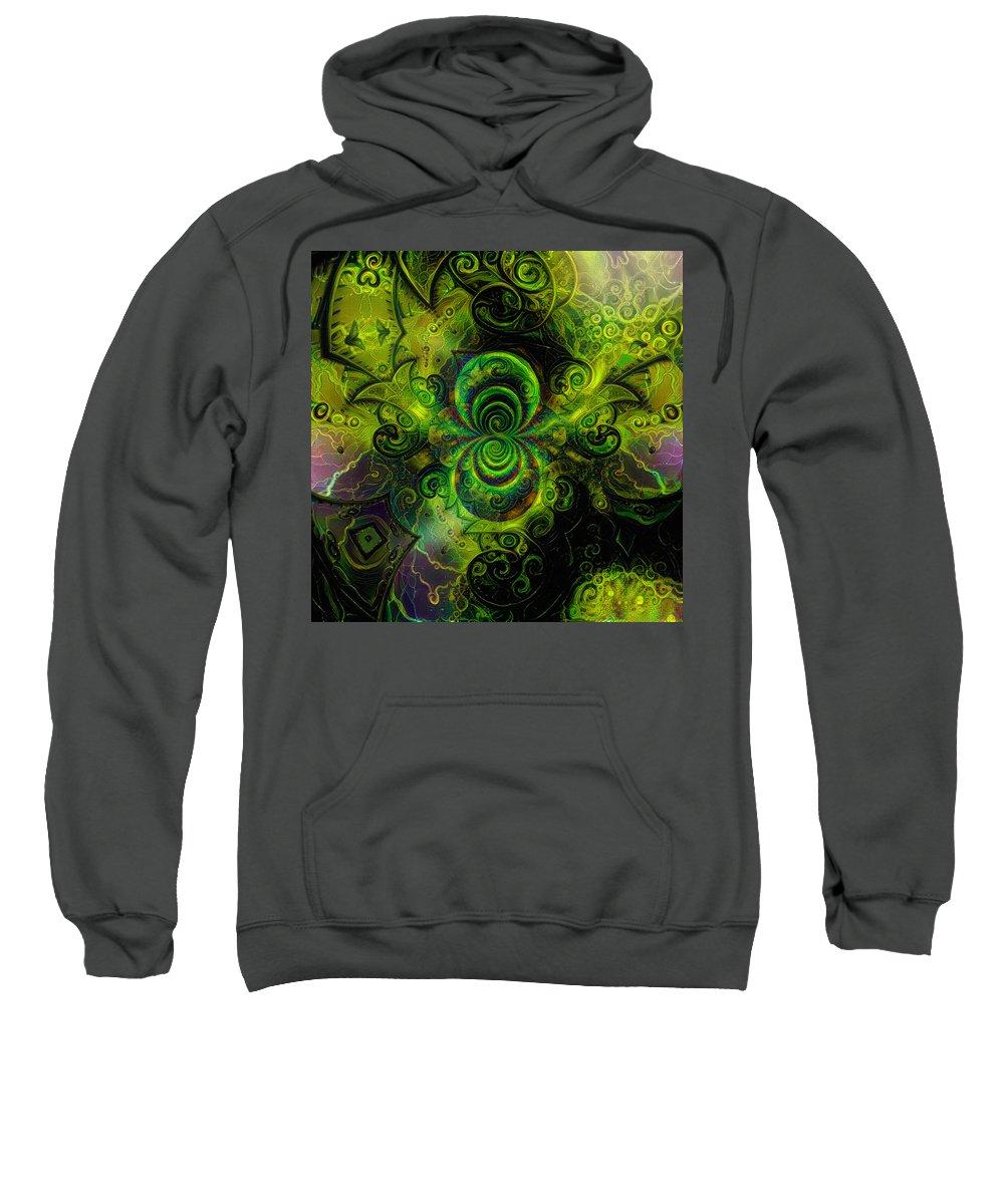 Modern Sweatshirt featuring the digital art Time Fractal by Bruce Rolff