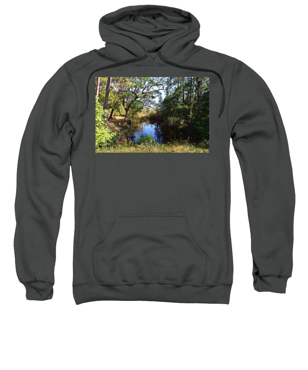 Coastal Sweatshirt featuring the photograph Typically Tidal by Laura Ragland