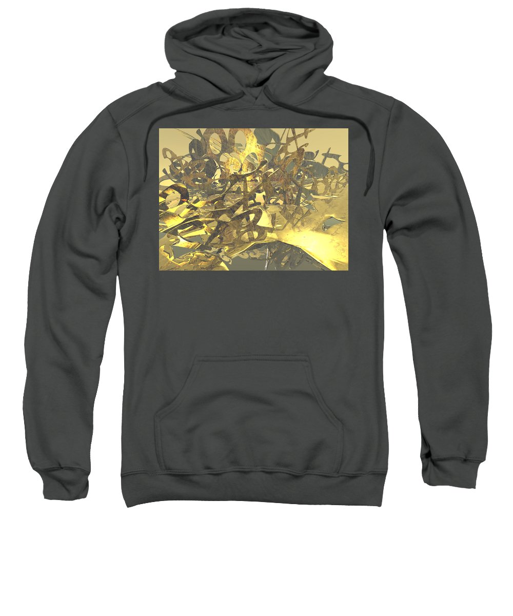 Scott Piers Sweatshirt featuring the painting Urban Gold by Scott Piers