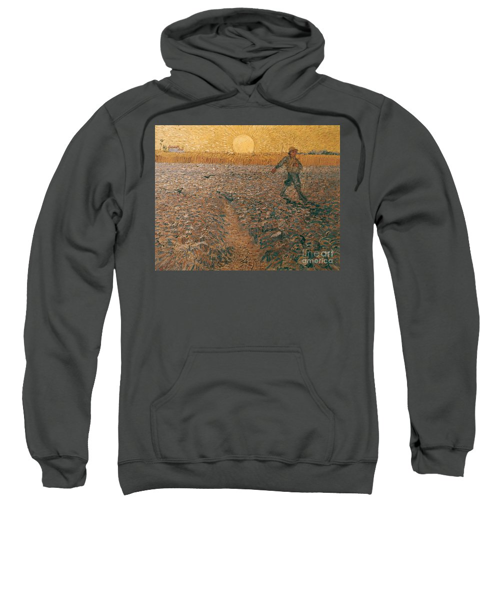 1888 Sweatshirt featuring the photograph Van Gogh: Sower, 1888 by Granger