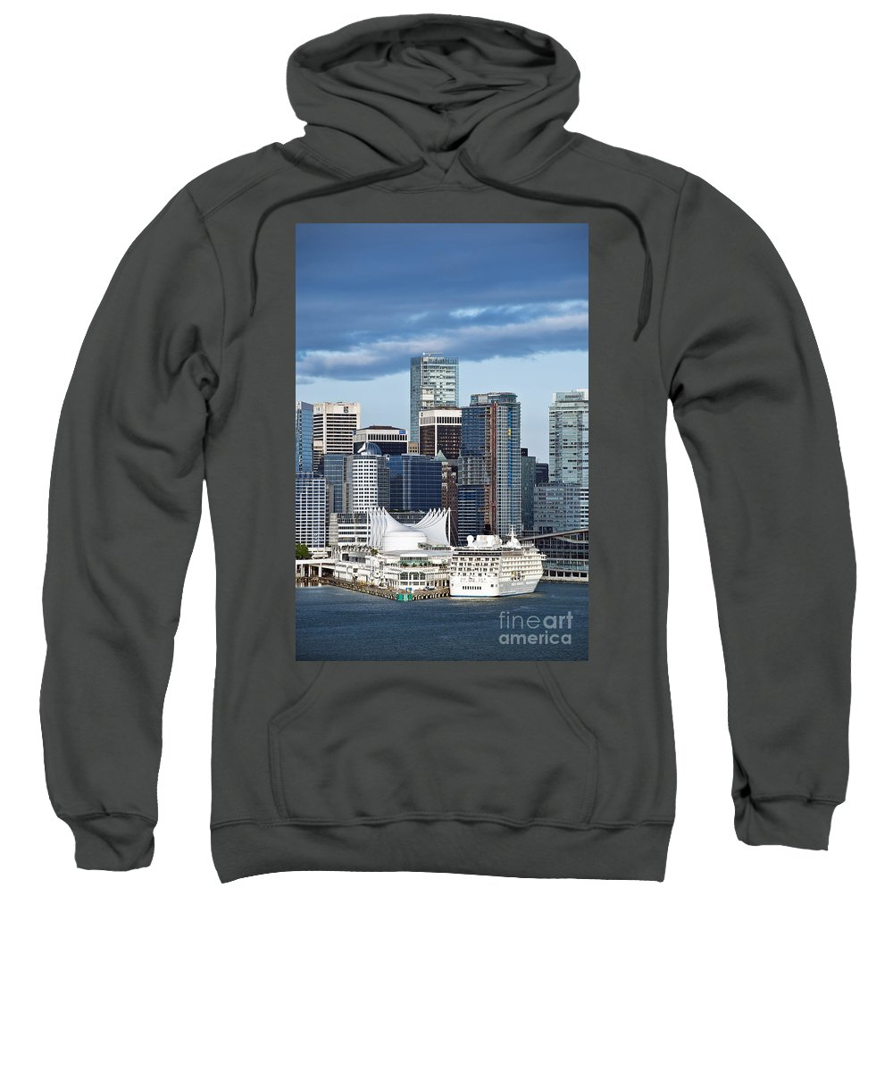 Business Sweatshirt featuring the photograph Vancouver Skyline by John Greim
