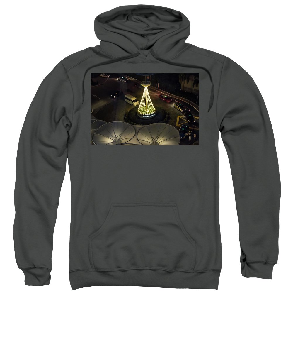 View Sweatshirt featuring the photograph View From Flyer by David Rolt