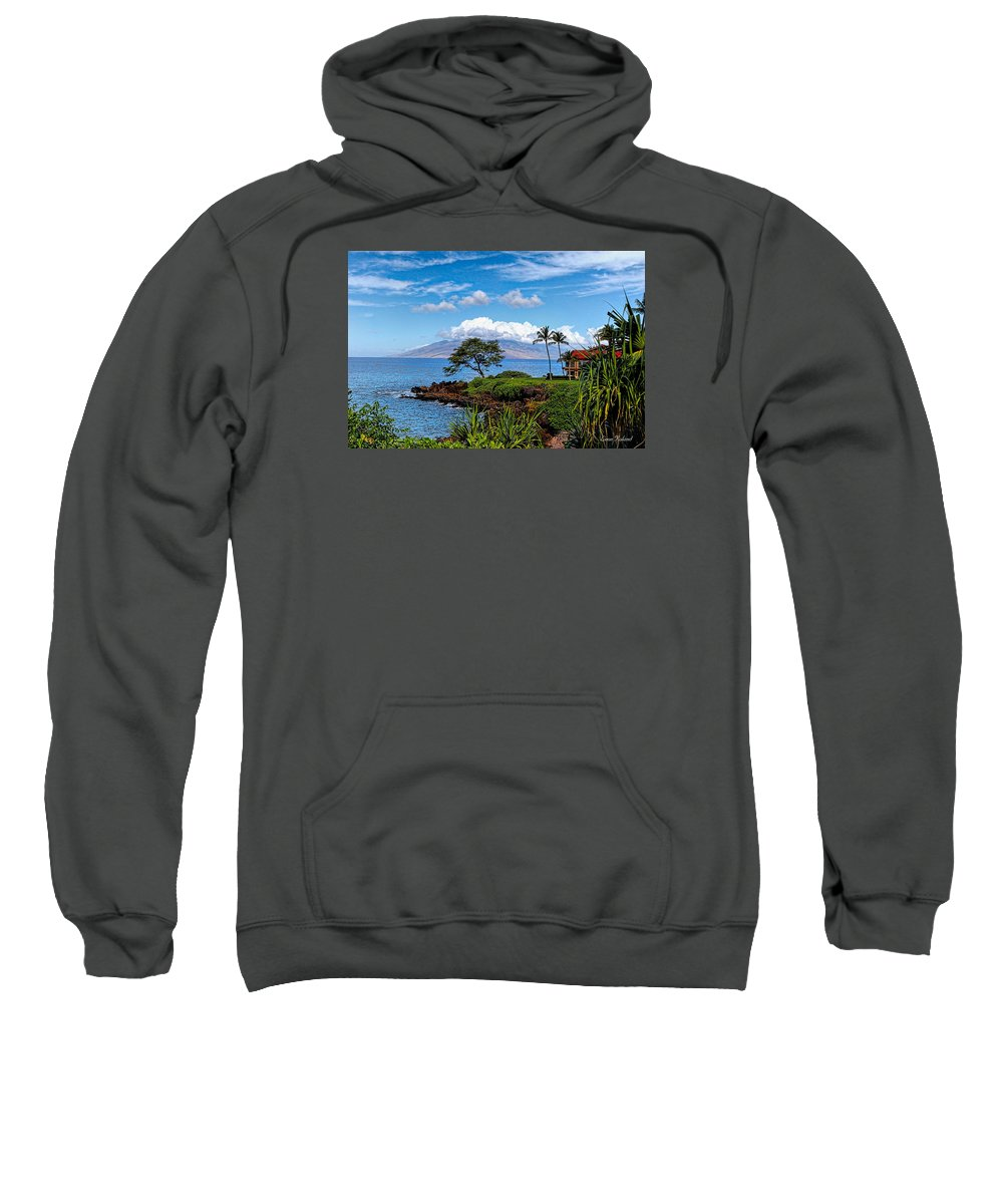 2015 Sweatshirt featuring the photograph Wailea Point by Leon Roland