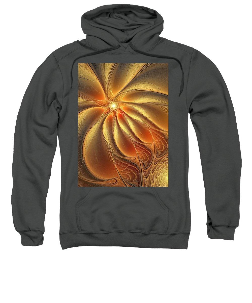Digital Art Sweatshirt featuring the digital art Warm Feelings by Amanda Moore