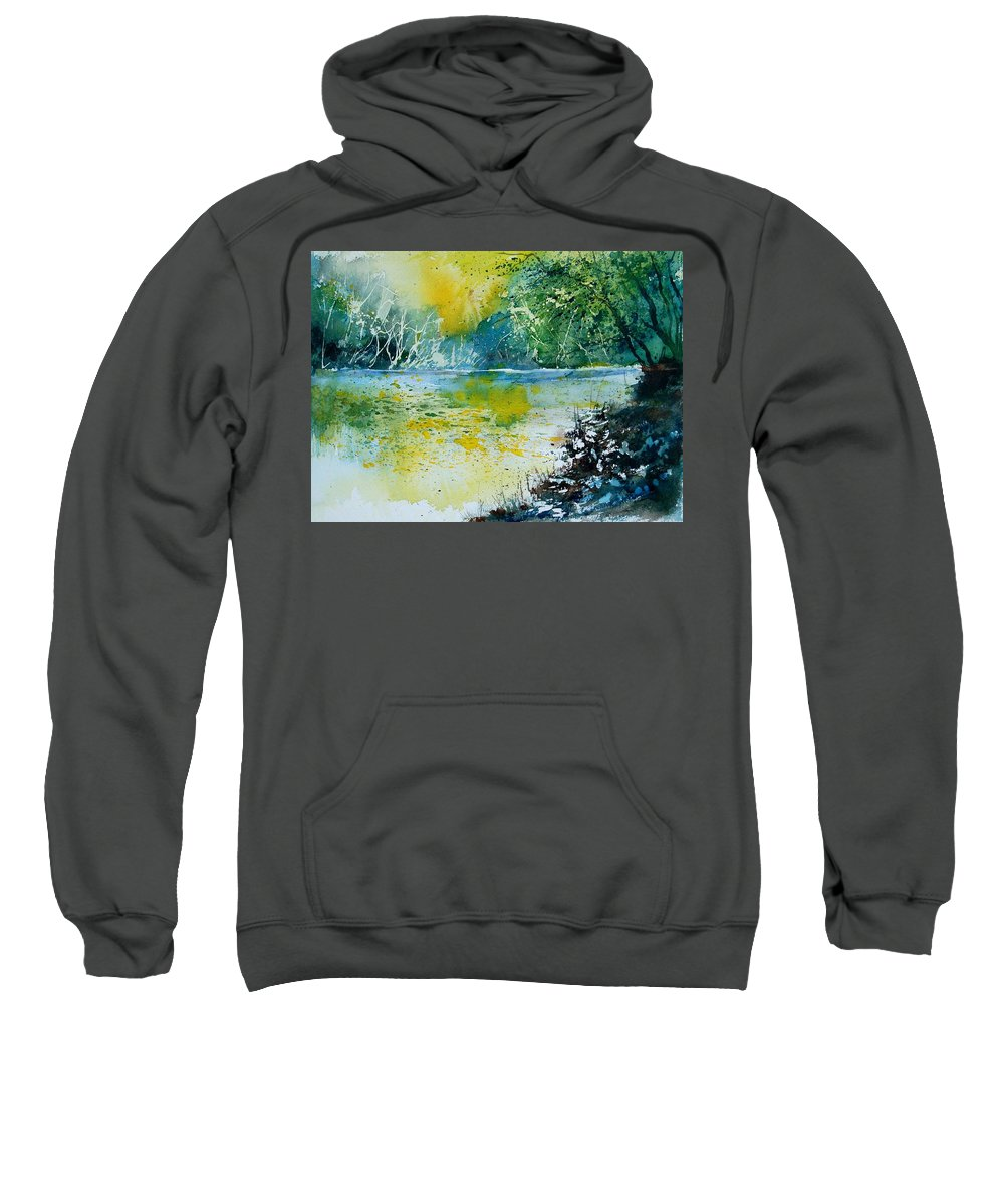 Water Sweatshirt featuring the painting Watercolor 051108 by Pol Ledent