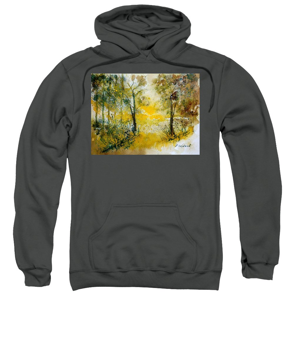 Tree Sweatshirt featuring the painting Watercolor 210108 by Pol Ledent