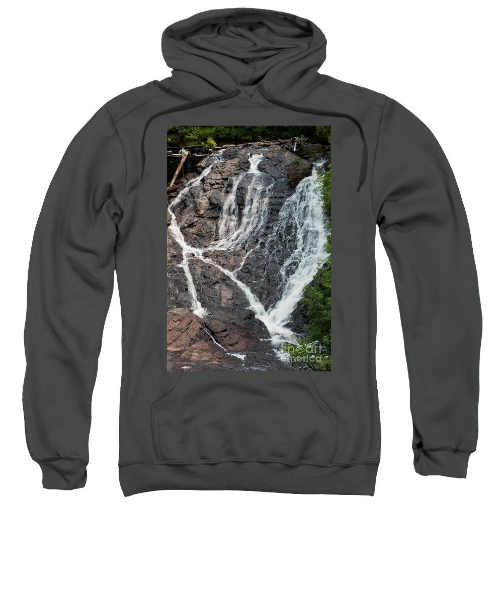 Waterfall Sweatshirt featuring the photograph Waterfall by Wesley Farnsworth