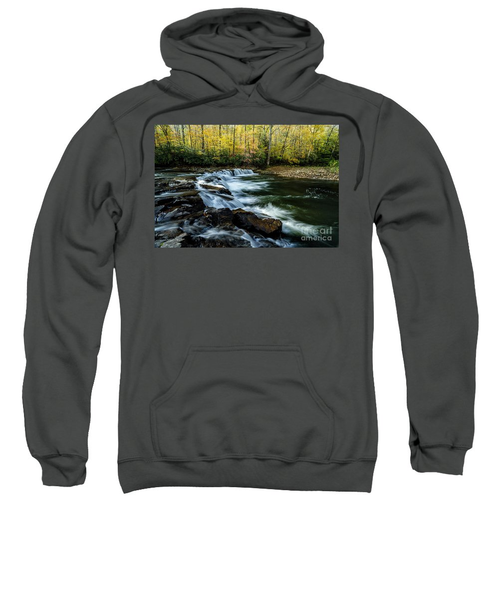 Whitaker Falls Sweatshirt featuring the photograph Whitaker Falls In Autumn by Thomas R Fletcher