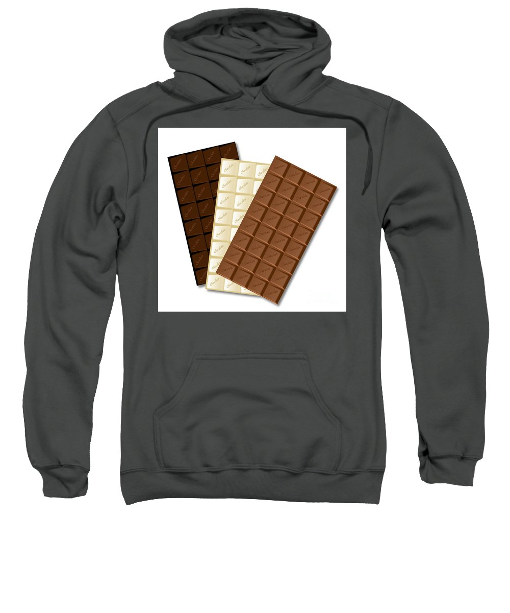 Chocolate Sweatshirt featuring the digital art White Chocolate Bar by Bigalbaloo Stock