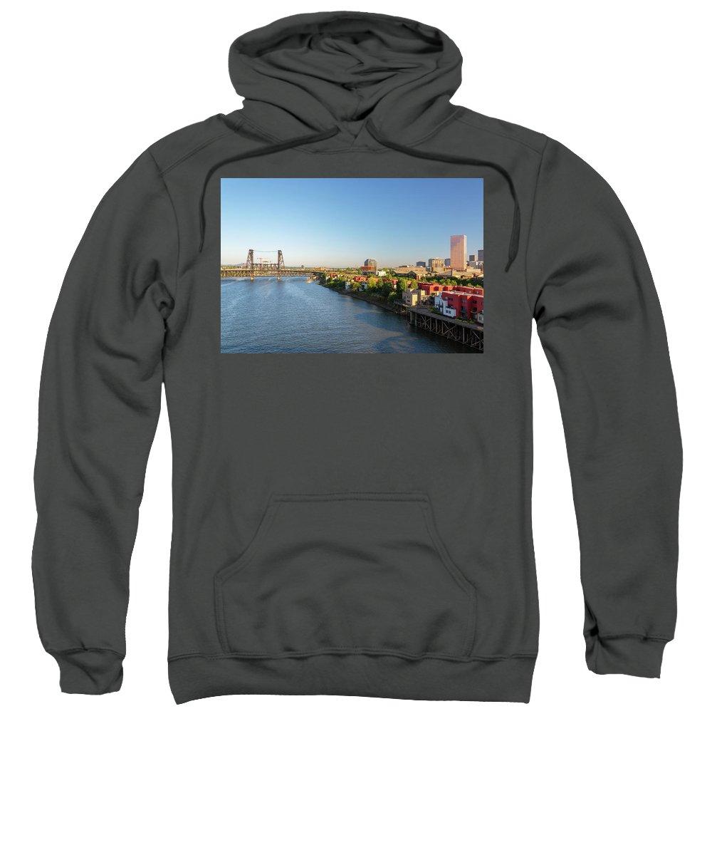 Portland Sweatshirt featuring the photograph Willamette River View by Jess Kraft