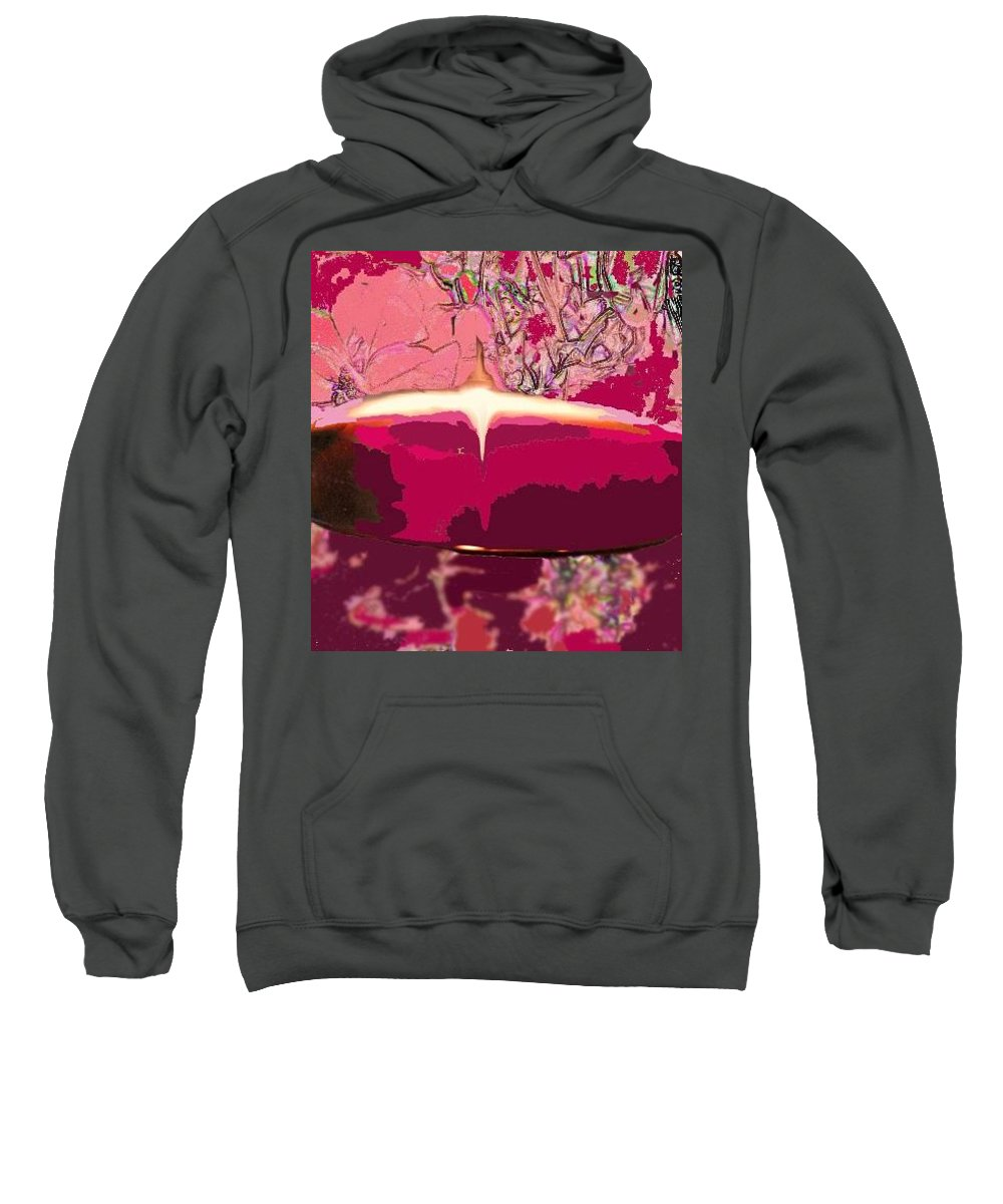 Wine Sweatshirt featuring the photograph Wine And Roses by Ian MacDonald
