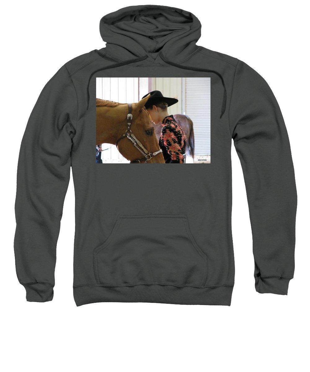 Patzer Sweatshirt featuring the photograph You Pray I Pray by Greg Patzer