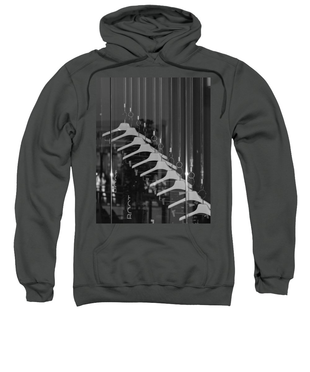 Hangers Sweatshirt featuring the photograph 10 Hangers In Black And White by Rob Hans