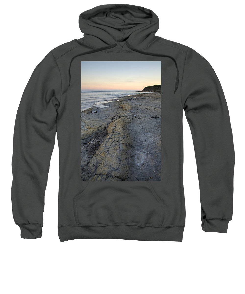 Kimmeridge Sweatshirt featuring the photograph Kimmeridge Bay In Dorset by Ian Middleton