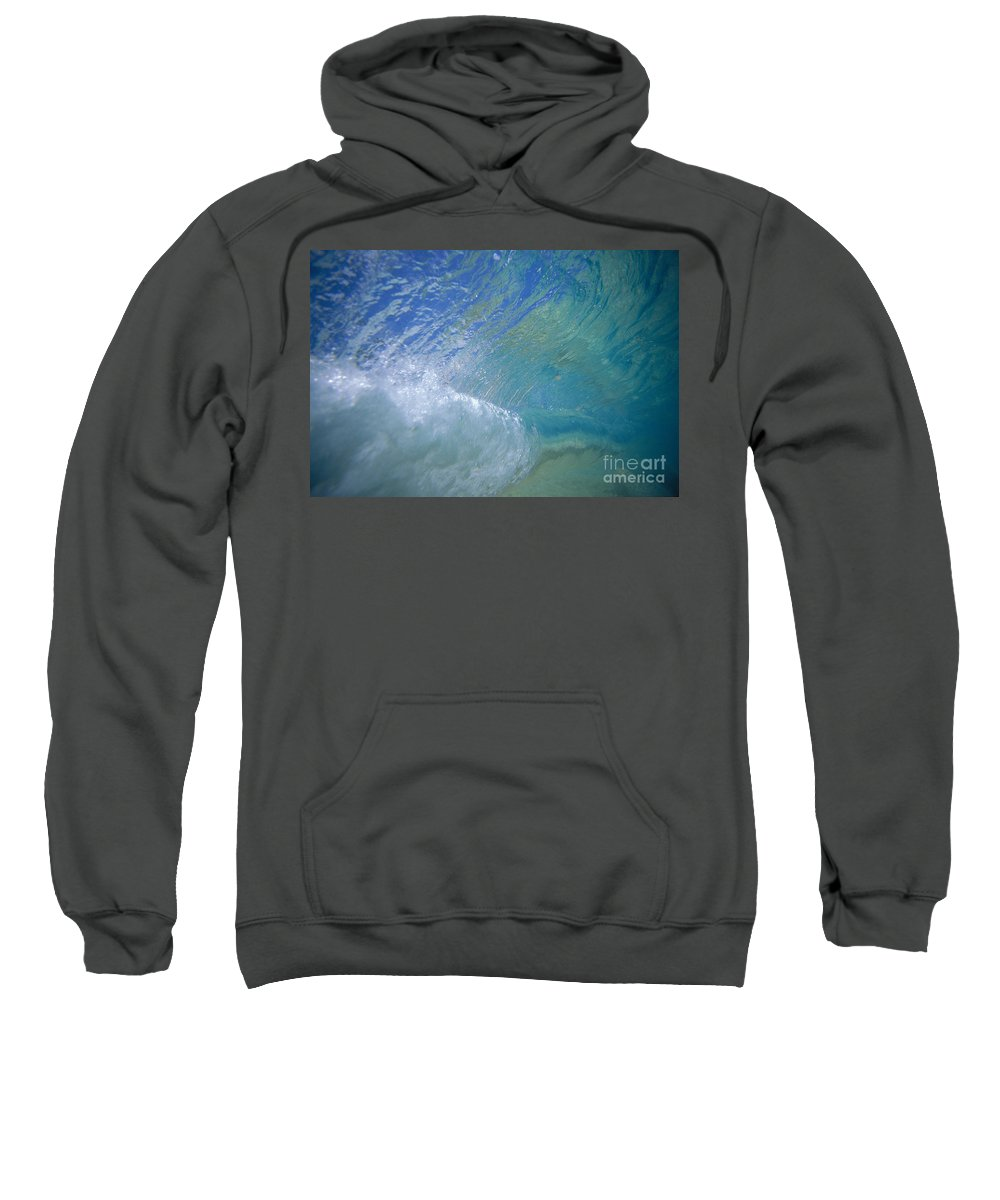 65-csm0294 Sweatshirt featuring the photograph Underwater Wave by Vince Cavataio - Printscapes