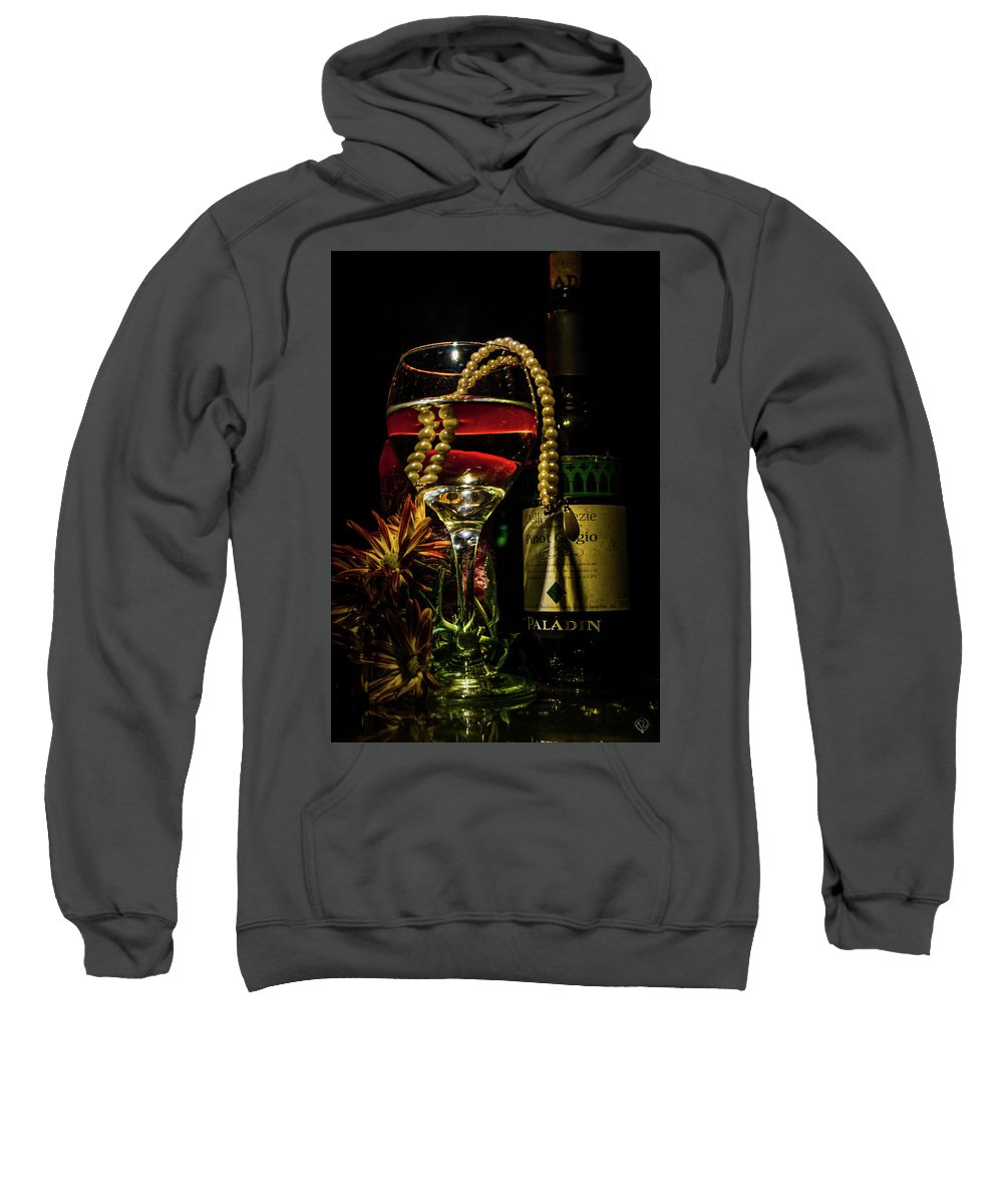 Wine Sweatshirt featuring the photograph 10043 Revenge by Pamela Williams