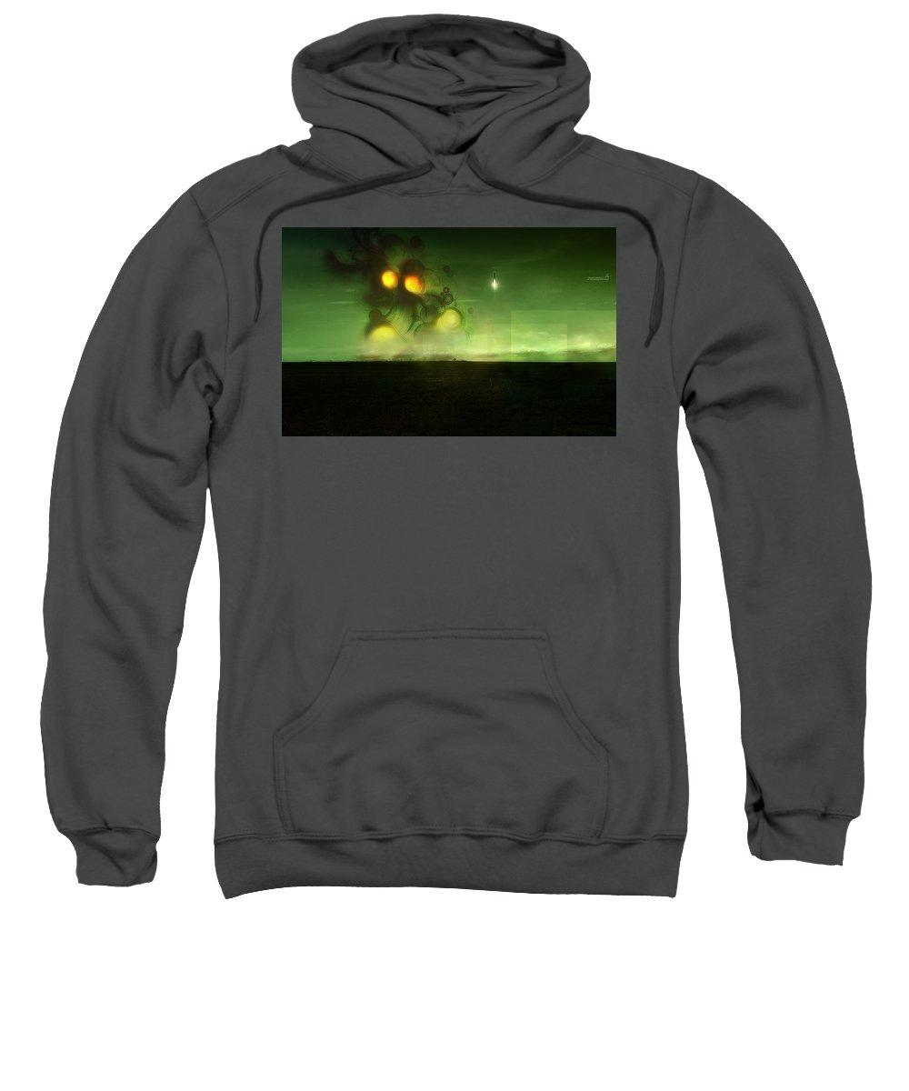Vector Sweatshirt featuring the digital art Vector by Mery Moon