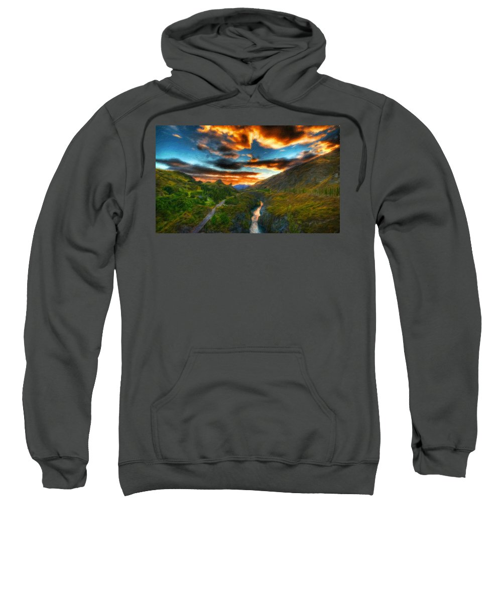 Landscape Sweatshirt featuring the painting Nature Landscapes Prints by World Map