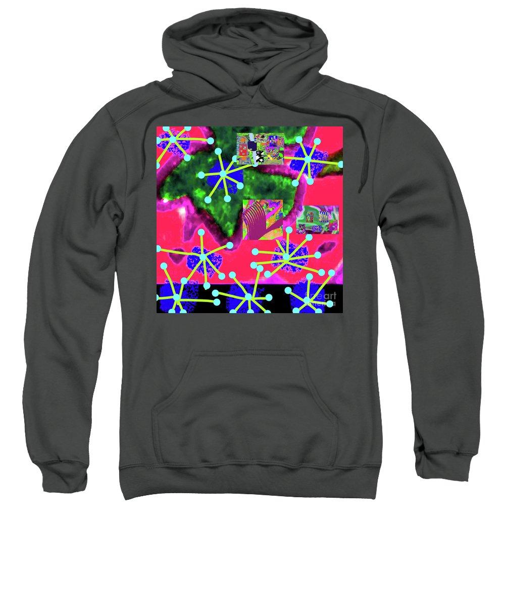 Walter Paul Bebirian Sweatshirt featuring the digital art 11-11-2015d by Walter Paul Bebirian