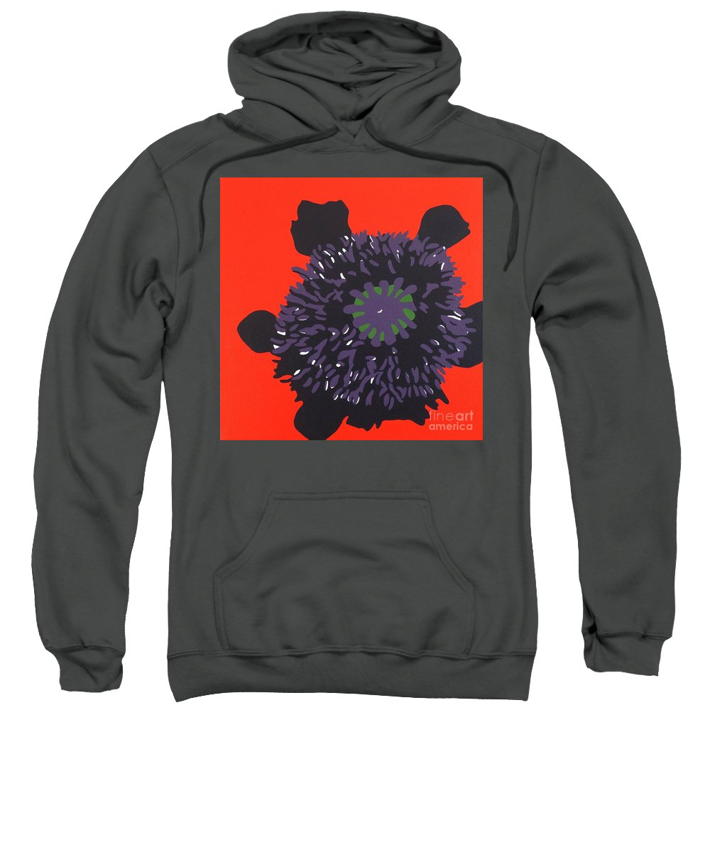 Acrylic Painting On Canvas Sweatshirt featuring the painting 11-11 Lest We Forget by Susan Porter