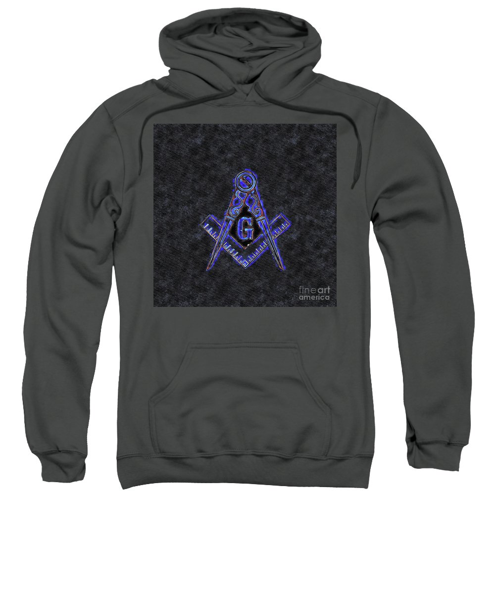 Lodge Sweatshirt featuring the painting Freemason, Mason, Masonic Symbolism by Esoterica Art Agency