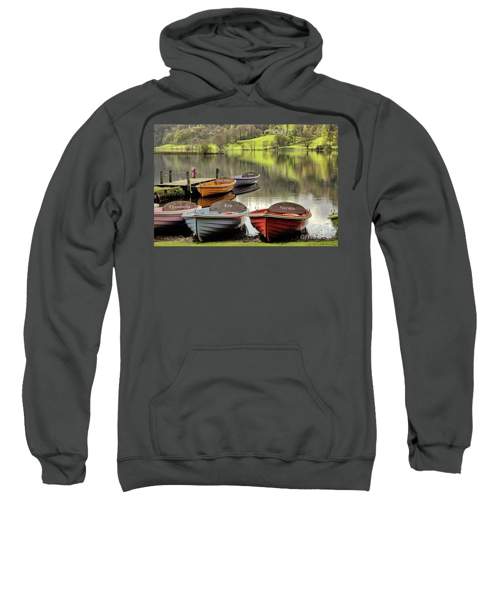 Grasmere Sweatshirt featuring the photograph Grasmere by Smart Aviation