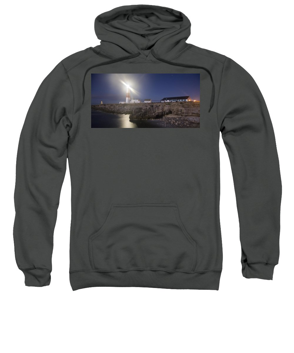 Portland Sweatshirt featuring the photograph Portland Bill Seascapes by Ian Middleton