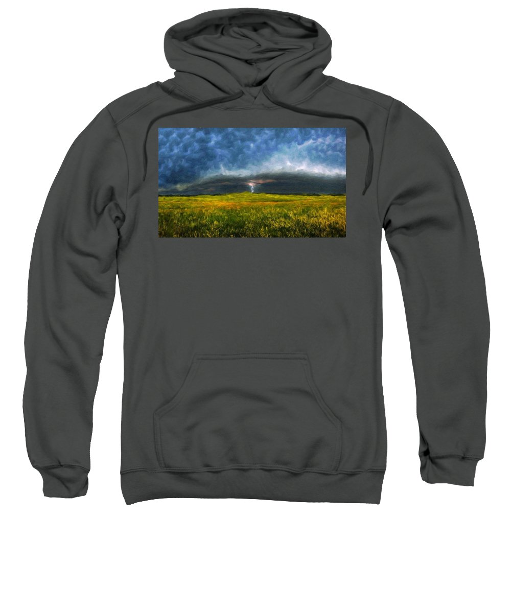 Landscape Sweatshirt featuring the painting Types Of Landscape Nature by World Map