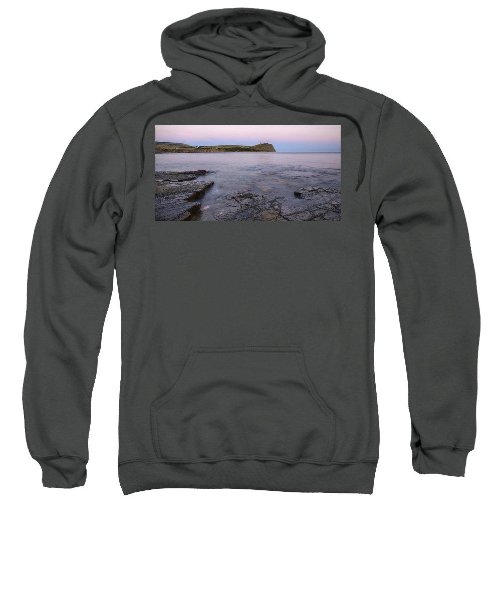 Kimmeridge Sweatshirt featuring the photograph Kimmeridge Bay In Dorset by Ian Middleton