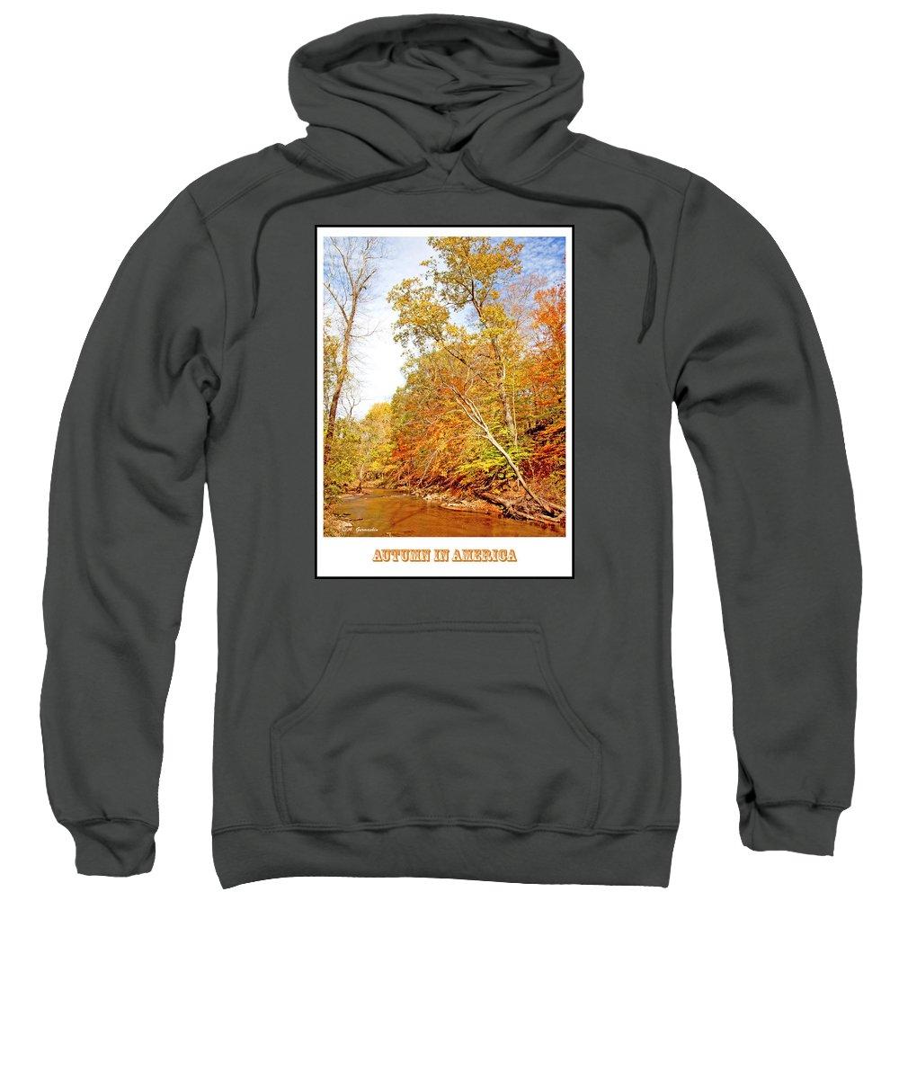 Stream Sweatshirt featuring the photograph Pennsylvania Stream In Autumn by A Gurmankin