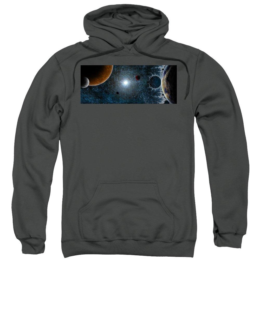 Space Sweatshirt featuring the digital art Space by Mery Moon