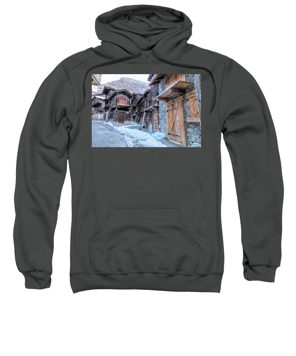 Hinterdorf Sweatshirt featuring the photograph Zermatt - Switzerland by Joana Kruse