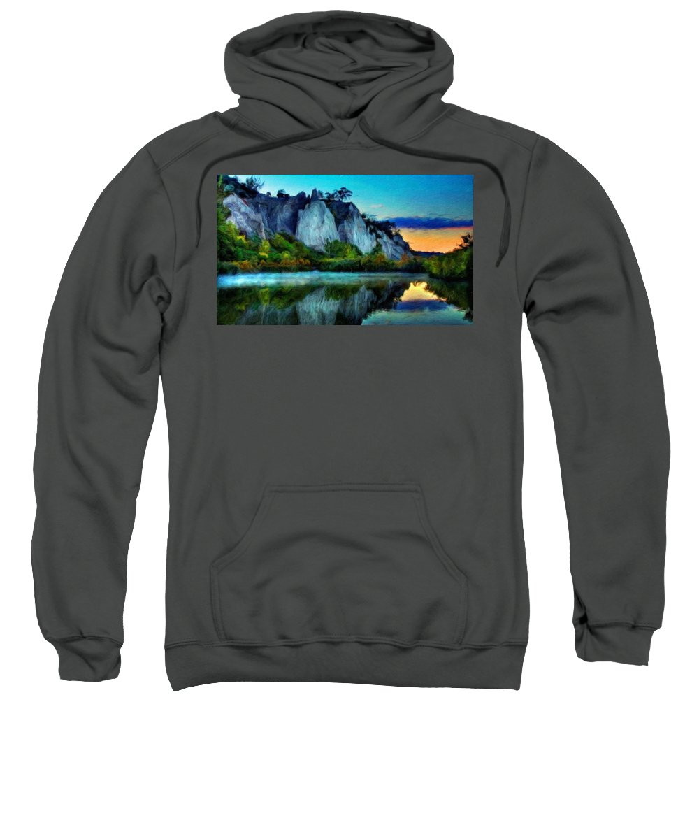 Landscape Sweatshirt featuring the painting Painting Landscape by World Map