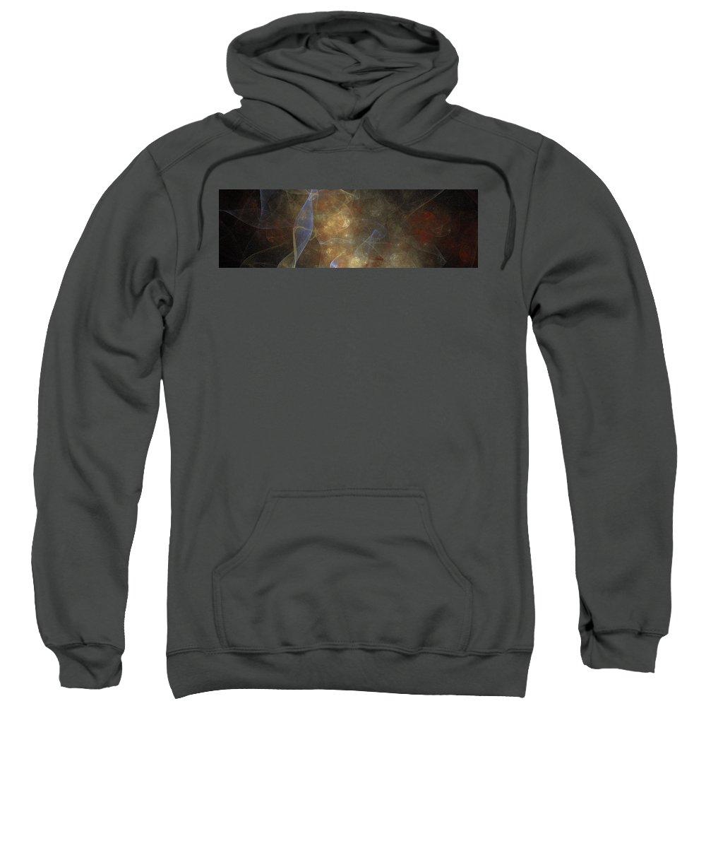Art Sweatshirt featuring the digital art Wave Art by Marjan Mencin