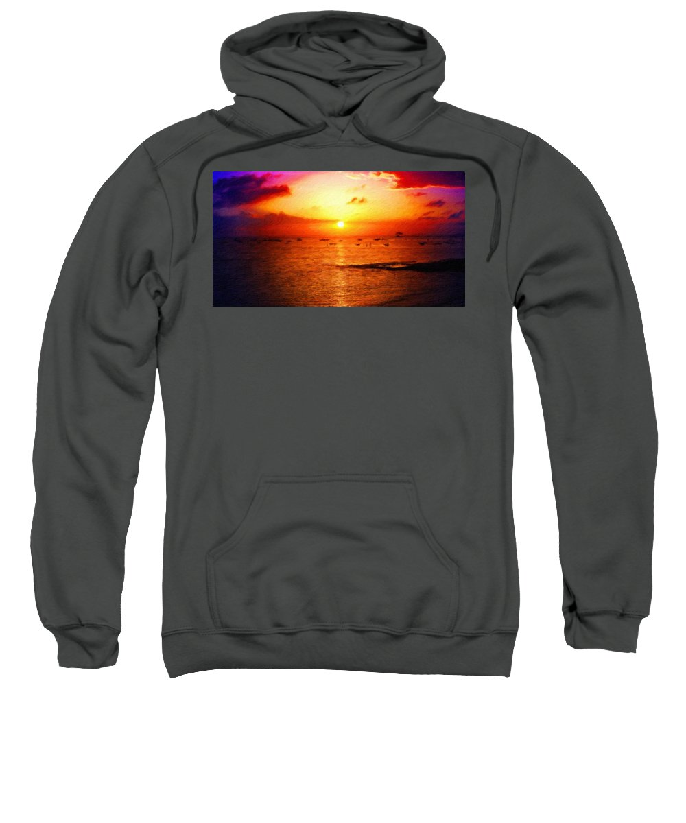 Landscape Sweatshirt featuring the painting Nature Landscape Nature by World Map