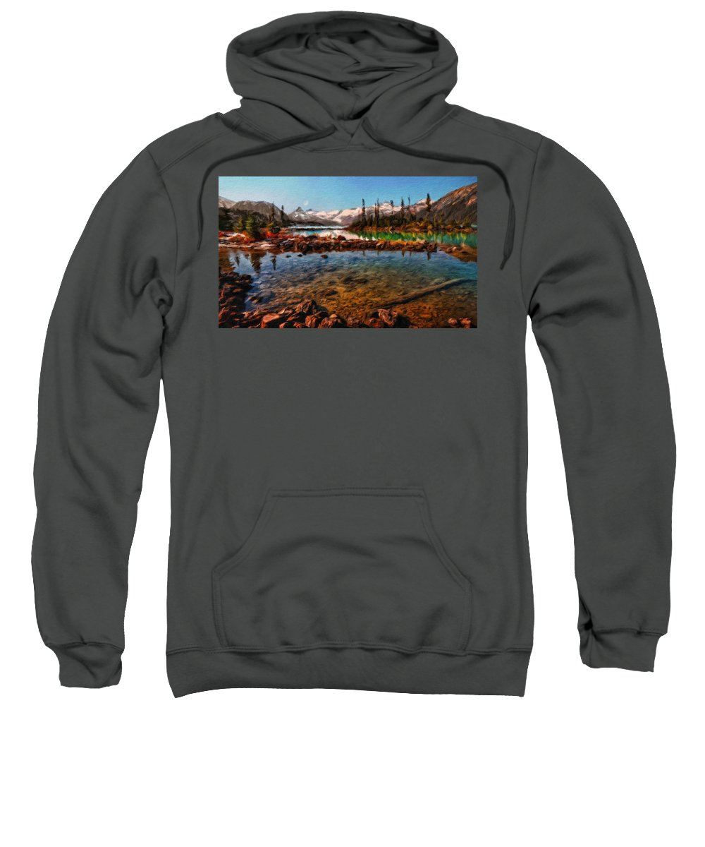 Landscape Sweatshirt featuring the painting Nature Landscape Jobs by World Map