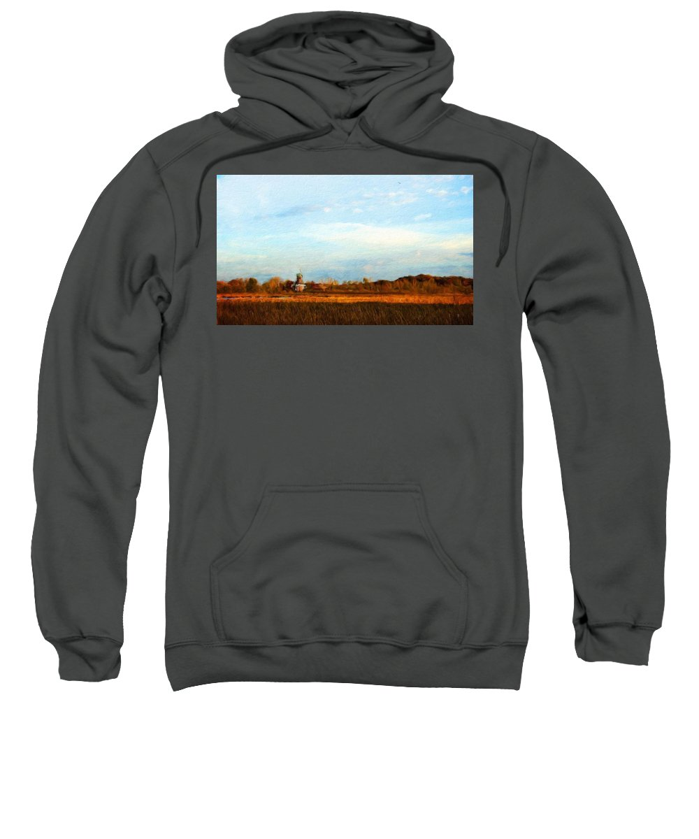 Landscape Sweatshirt featuring the painting Landscape Pictures Nature by World Map