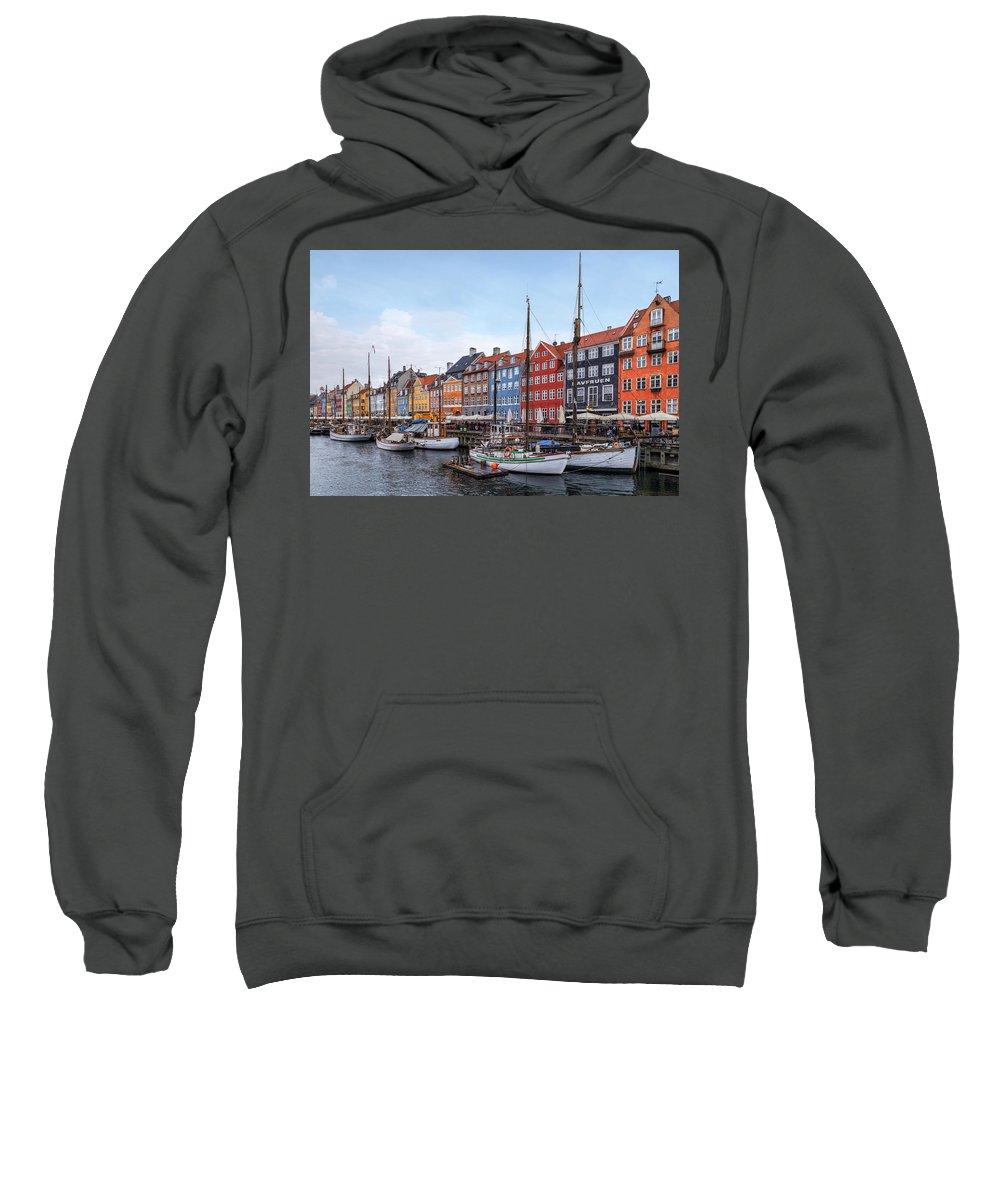 Nyhavn Sweatshirt featuring the photograph Copenhagen - Denmark by Joana Kruse