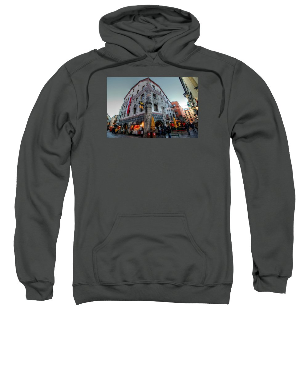 Innsbruck Austria Sweatshirt featuring the photograph Innsbruck Austria by Paul James Bannerman