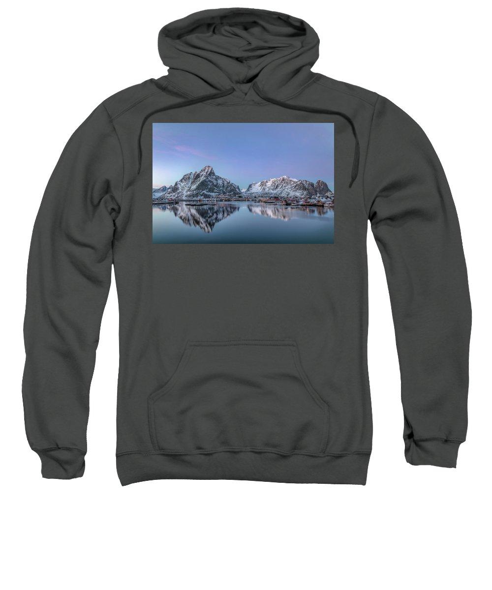 Reine Sweatshirt featuring the photograph Reine, Lofoten - Norway by Joana Kruse