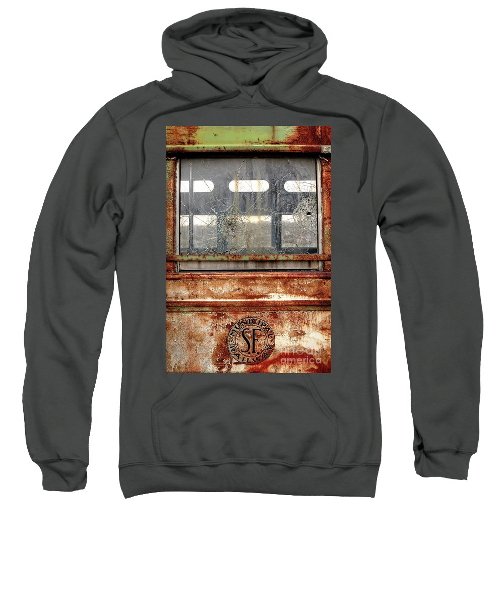 Illinois Sweatshirt featuring the photograph 1449 Illinois Trolley Museum by Steve Sturgill