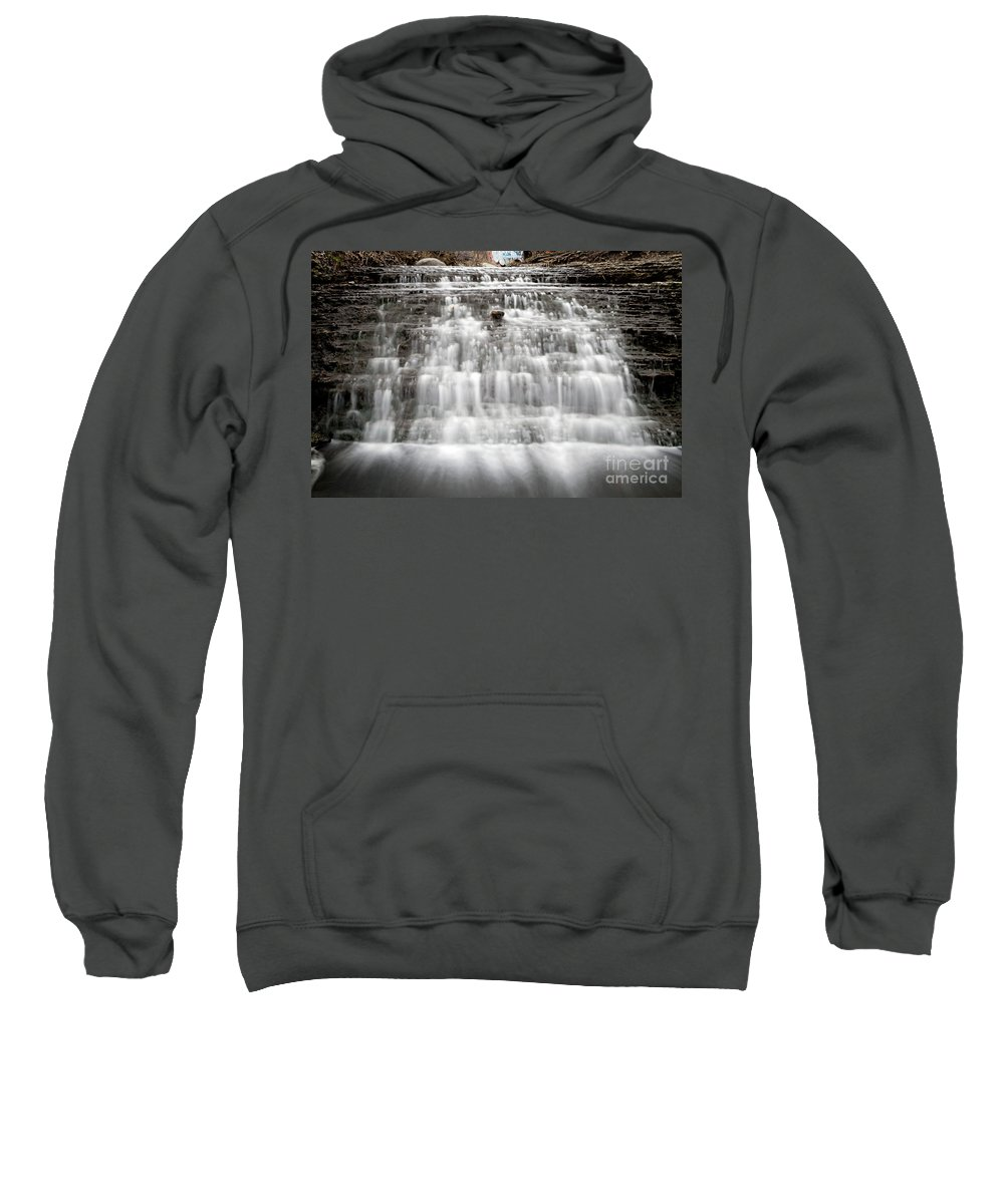 South Sweatshirt featuring the photograph 1452 South Elgin Waterfall by Steve Sturgill