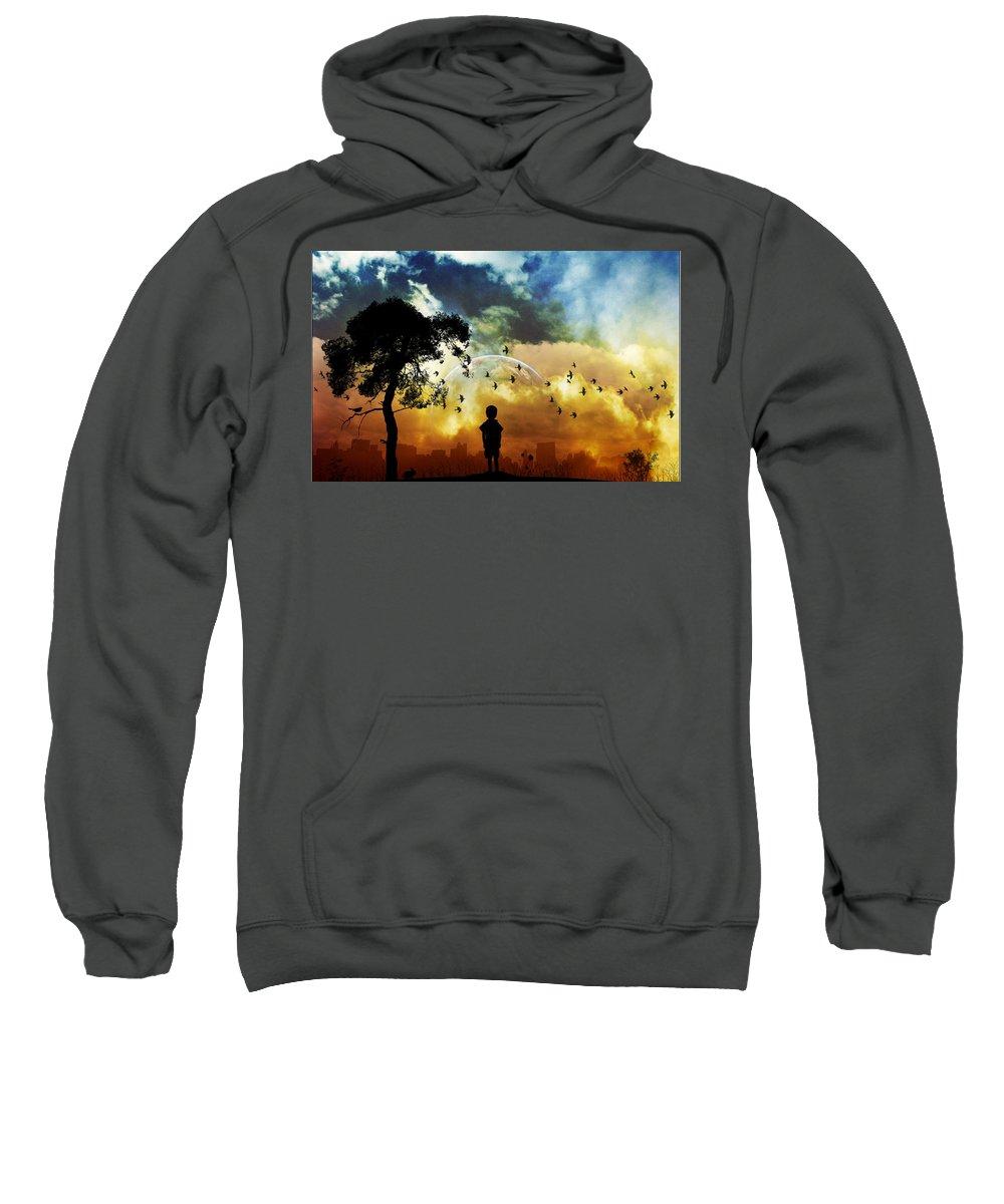 Artistic Sweatshirt featuring the digital art Artistic by Bert Mailer