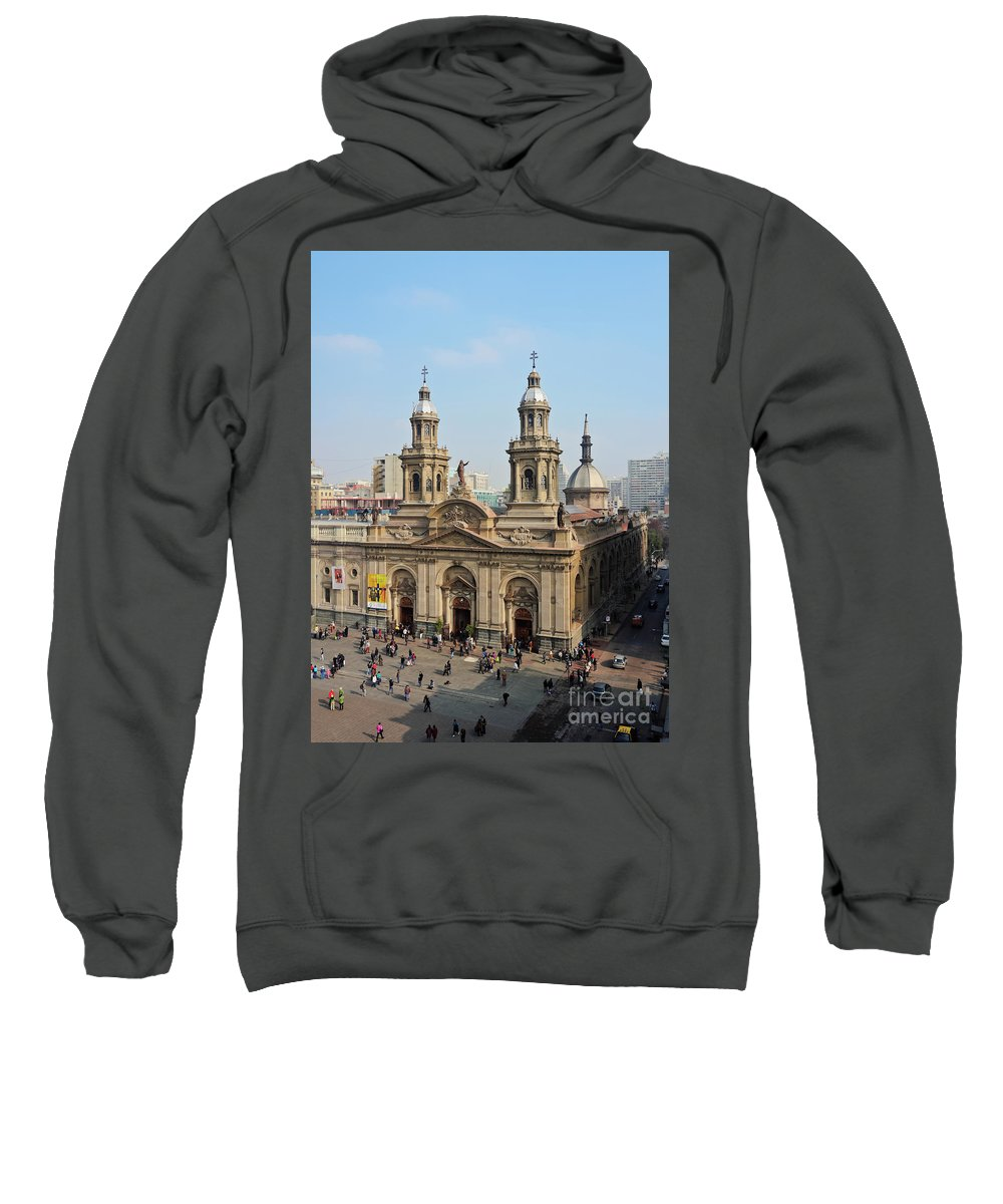 South America Sweatshirt featuring the photograph Santiago De Chile by Karol Kozlowski