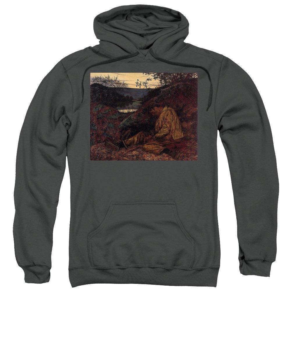 Grunge Sweatshirt featuring the digital art Wallis Henry The Stonebreaker2 Henry Wallis by Eloisa Mannion