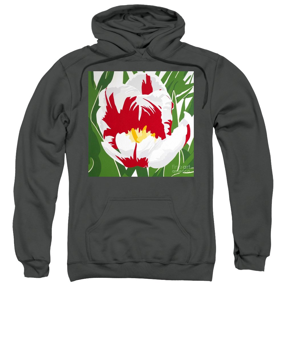 Canada 150 Sweatshirt featuring the painting Canada 150 by Susan Porter
