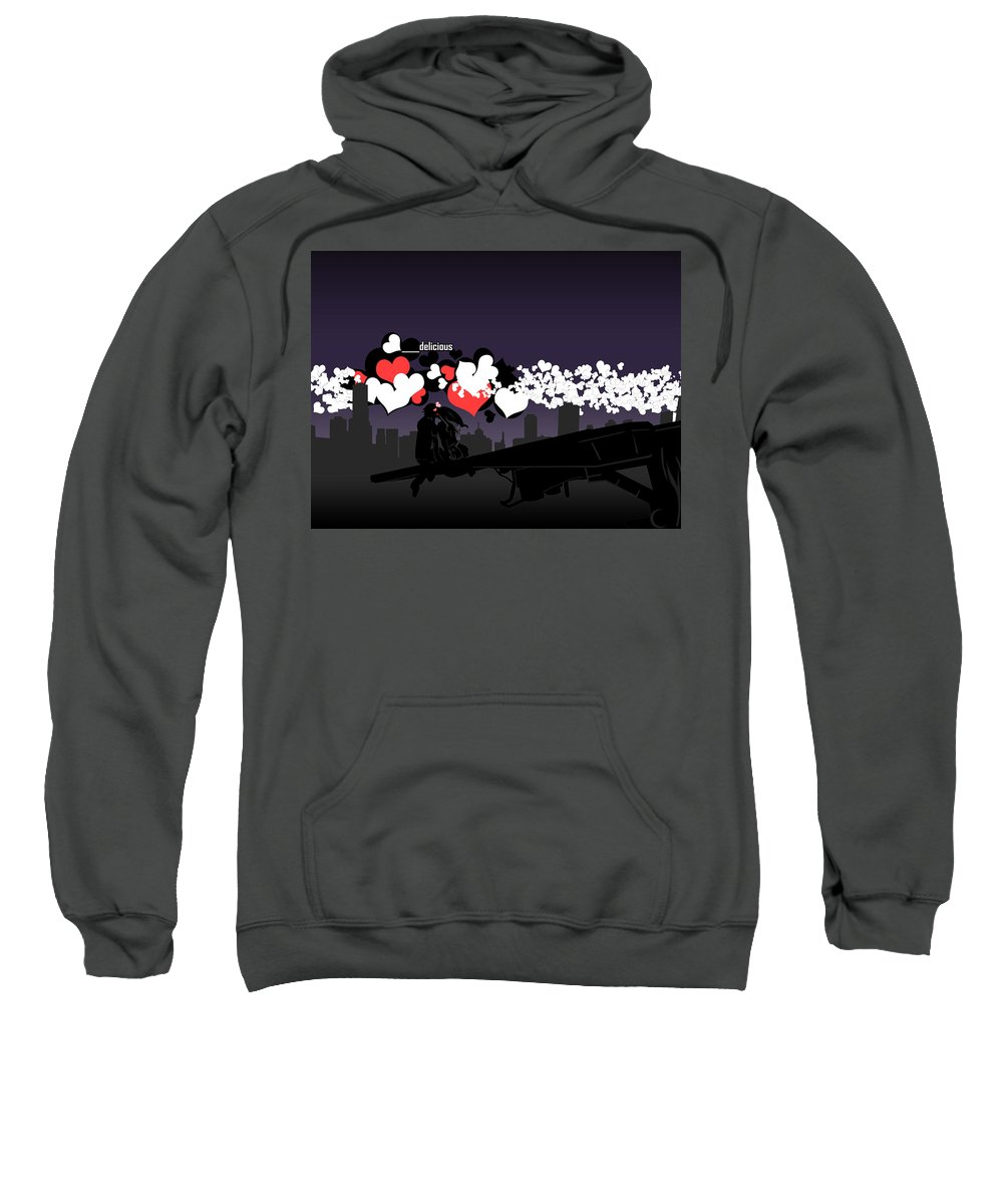 Love Sweatshirt featuring the digital art Love by Mery Moon