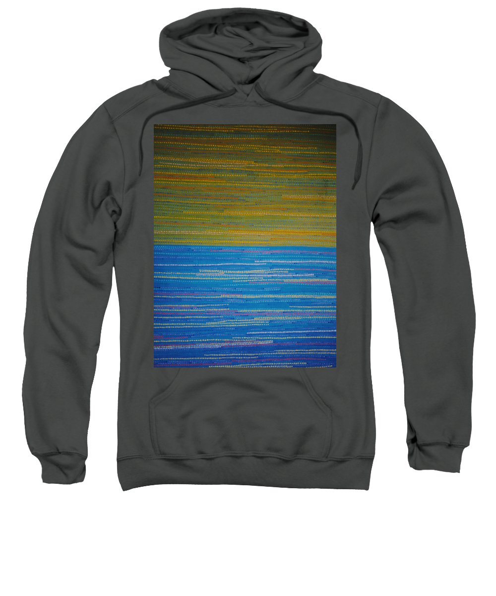 Abstract Sweatshirt featuring the painting Identity by Kyung Hee Hogg